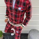 красный костюм мужской в клетку Tommy Hilfiger