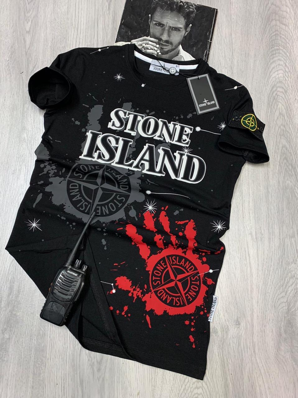 Black t-shirt STONE ISLAND
