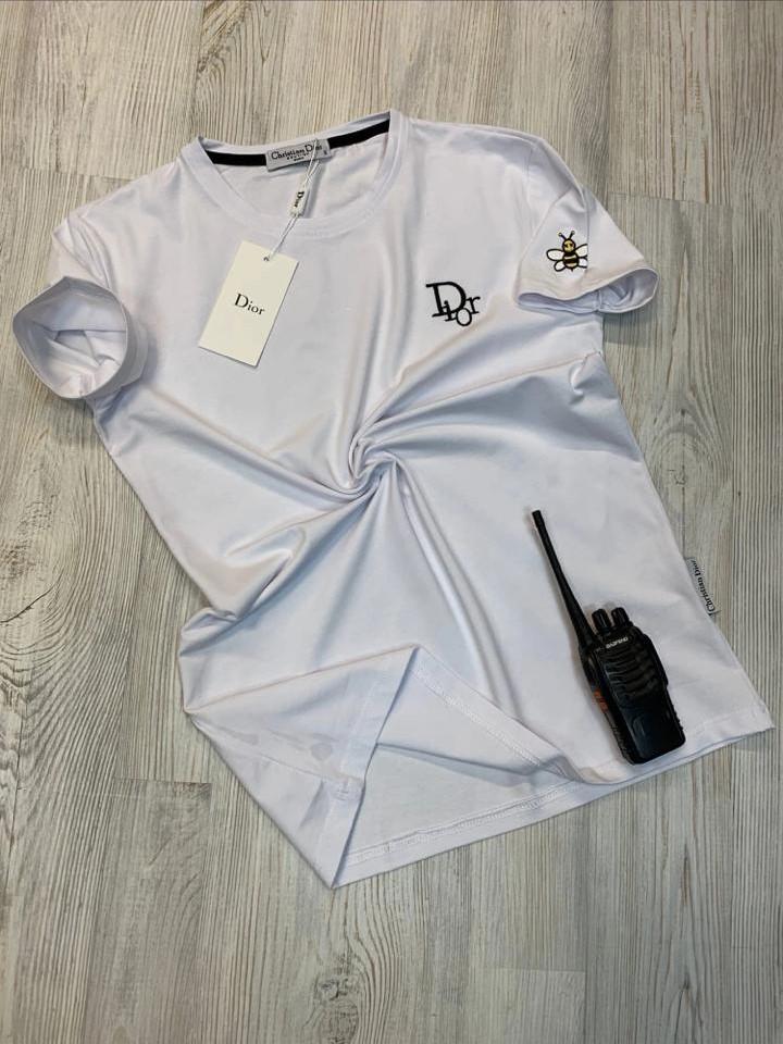 футболка мужская Christian Dior белая